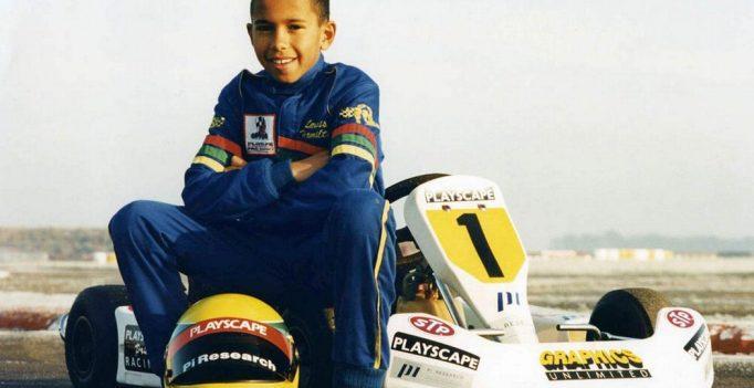 Hamilton no kart